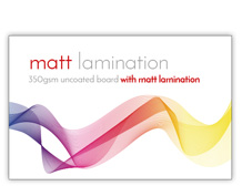 Businesscard-matt-lamination